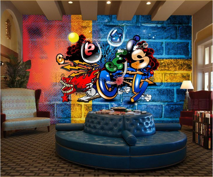 3D Graffiti Strokes 16 WallPaper Murals Wall Print Decal Wall Deco AJ WALLPAPER