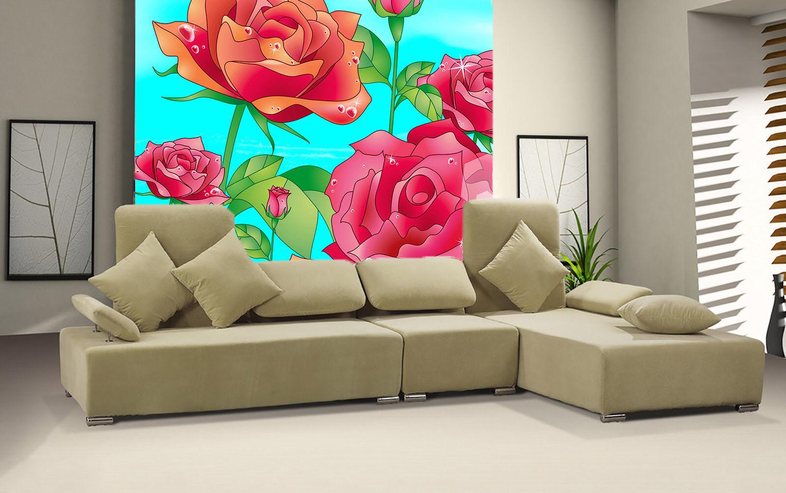 3D Cartoon Rote Rote Rote Rosa 75 Tapete Wandgemälde Tapete Tapeten Bild Familie DE Summer | Spielen Sie auf der ganzen Welt und verhindern Sie, dass Ihre Kinder einsam sind  |  b97e49