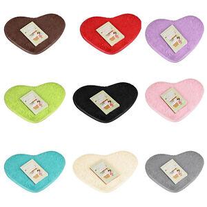 Cute Heart-shaped Non-slip Bathing Mats Kitchen Bathroom Doormat Home Decor