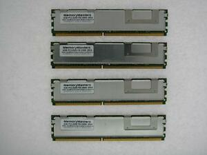 16go Kit 4x4gb Hp Hewlett Packard Compaq Pc2-5300 Ddr2 Ecc Fb Dimm Mémoire Ram