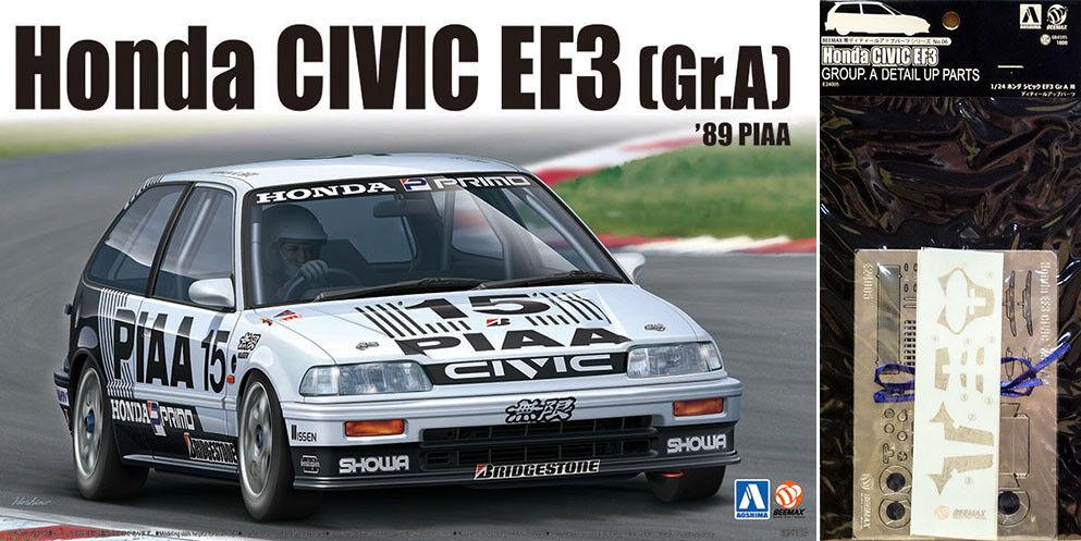 Honda Civic EF3 Gr.A '89 PIAA    Detail Up Parts 1 24 Model Kit Beemax Aoshima  | Billig  2a8234