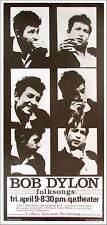 Bob Dylon (sic) Poster Vancouver '65 Dylan Reprint Signed in Ink Bob Masse