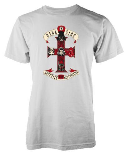 Darkside Appetite for Destruction GNR Star Wars inspired adult t-shirt