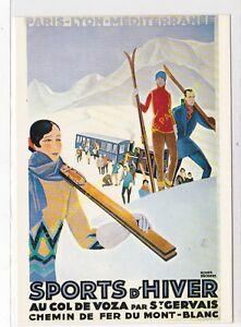 CP Poster Chemin Iron P. L. M. Mount White Col De Voza Edit Nugeron R86