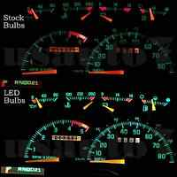 Dash Cluster Gauge White Led Lights Kit Fits 88-94 Chevy Gmc C/k1500 C/k2500