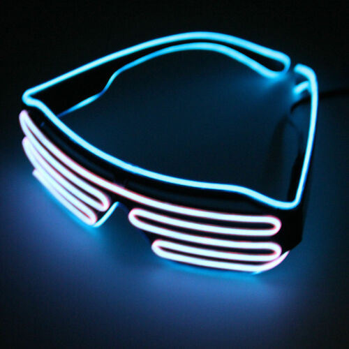 2 pair of LED Glow Shutter Sun Glasses for Concert EDM Electro Party Fire Sale!