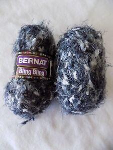 Night-Club-Bernat-Bling-Bling-2-1-75-oz-Skeins-Bulky-Weight-Yarn-Total-180-yds