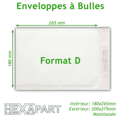 ENVELOPPE A BULLE Pochettes qualité pro 10 50 100 11 formats Par 5 200
