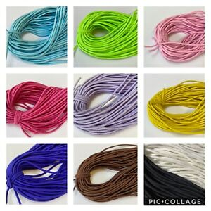 Fast Ship 5 Yards Round 2 5mm Elastic Cord Face Mask In 10 Colors