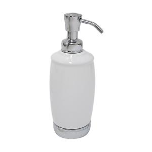 Details About Interdesign 75601 Tall Soap Pump Dispenser White Chrome