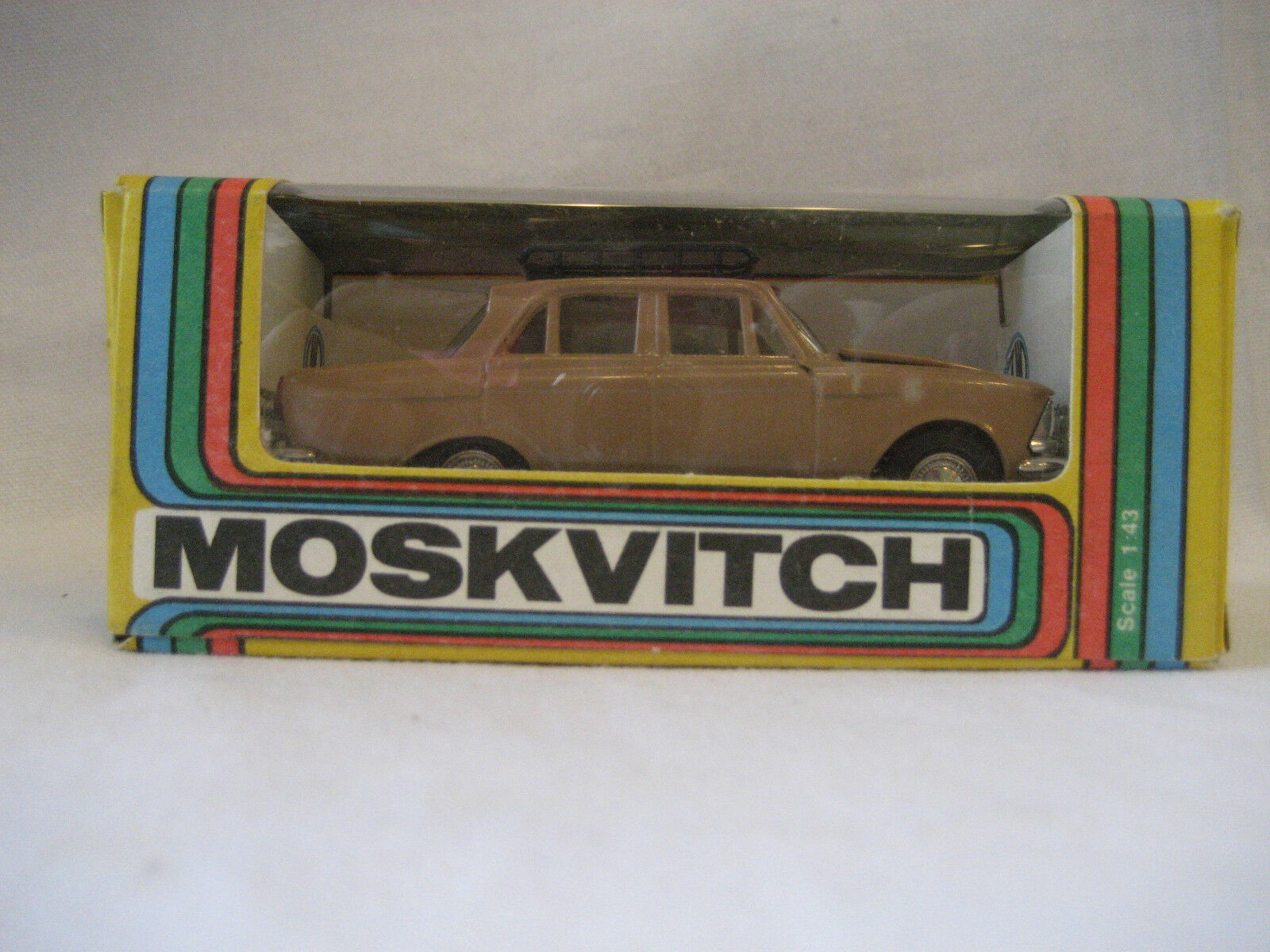 Original vintage Russian MOSKVITCH 408 diecast car toy USSR soviet 1 43 w BOX