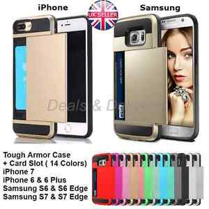 Hard-Hybrid-Armor-Case-Cover-With-Slide-Card-Slot-Holder-For-iPhone-amp-Samsung