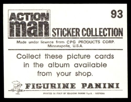 Panini Action Man Sticker 1983 No 93