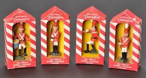 Marx-Walt-Disney-Disneykin-Babes-in-Toyland-Soldier-Figure-Set-of-4-in-Boxes-Vtg