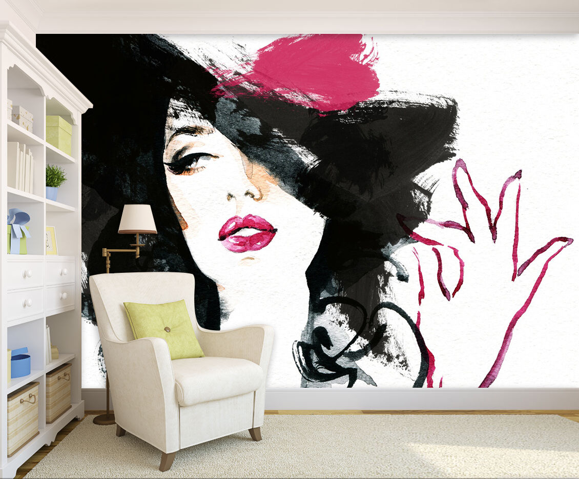 3D Pretty Elegant Woman 1331 Paper Wall Print Wall Decal Wall Deco Indoor Murals