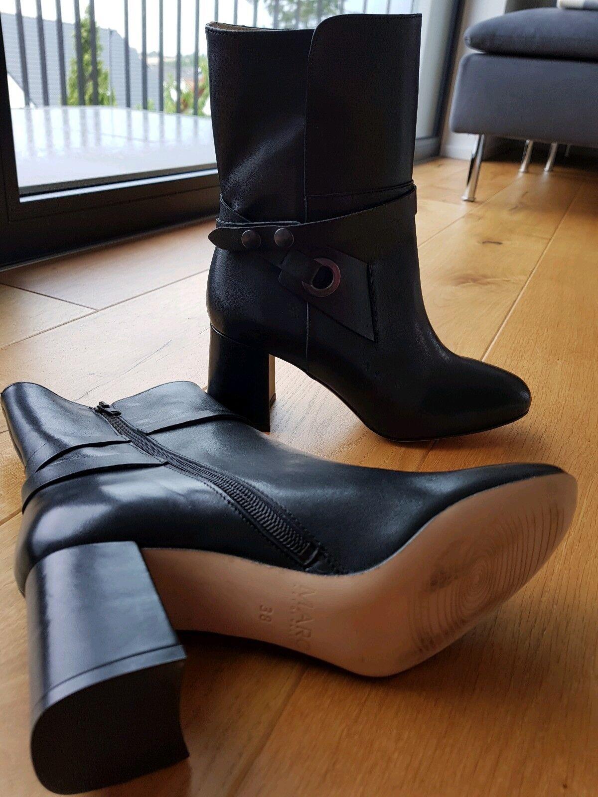 Schuhe 38 damen Marc Echtleder    Schwarz Neu  | Verschiedene aktuelle Designs  7f3ea8