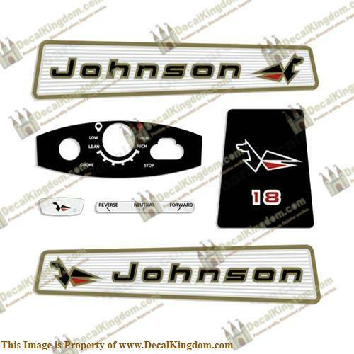 Johnson 1965 Outboard Decal Kit (Multiple Größes Available) 3M Marine Grade