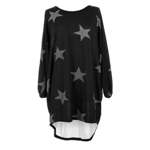 Damen Minikleid Freizeit Tunika Longshirt Bluse Top Kurzarmkleid Hemden Cover up