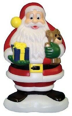 """New Christmas Blow Mold Lighted Plastic Yard lawn decoration 18"""" Santa Claus"""