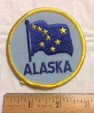 Alaska State Flag Alaskan AK Round Souvenir Patch