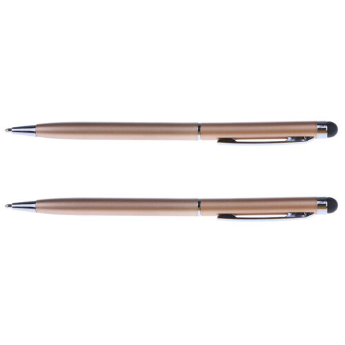 2Piece Capacitive Pen,Touch Screen Stylus Pencil for Pad Phone Laptop gold