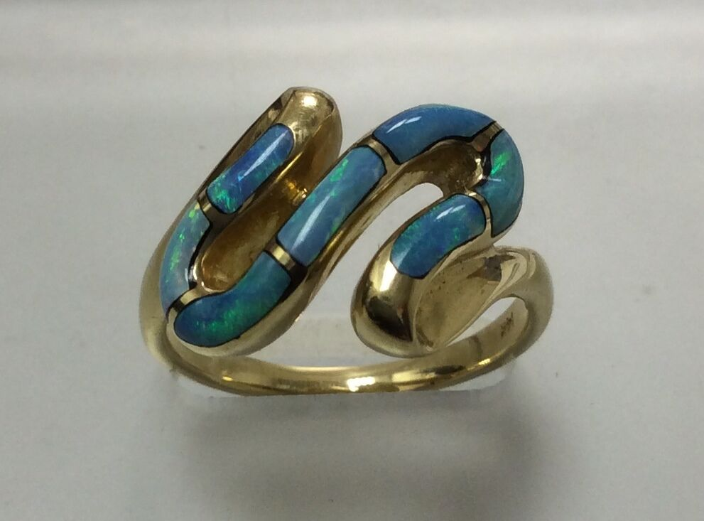 BRAND NEW Natural Opal Ring in 14K Yellow gold ON SALE