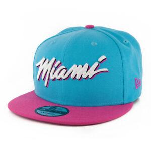 New-Era-9Fifty-City-Series-19-Miami-Heat-Snapback-Hat-Teal-Men-039-s-Cap