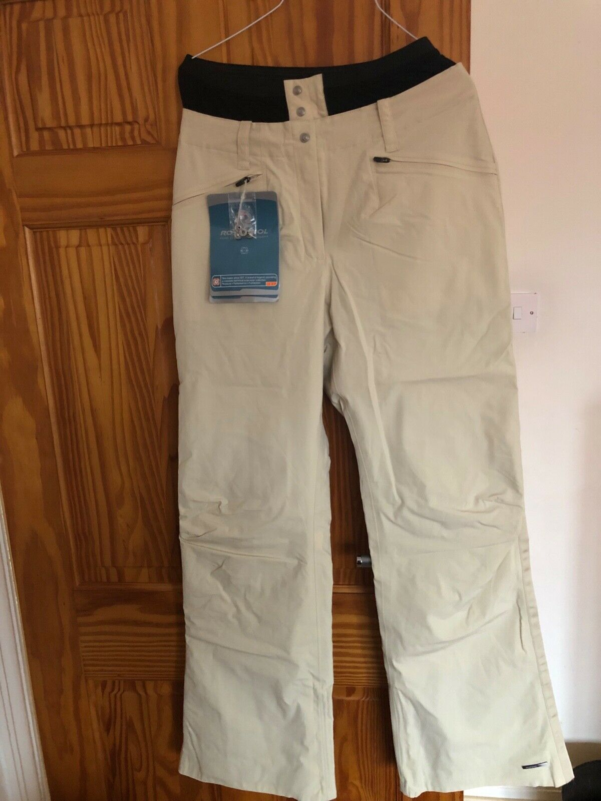 ROSSIGNOL Womens Ivory Cream Ski Trousers Skiing Pants Ladies Medium BNWT