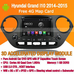 Android Multimedia Player for Hyundai Grand i10 2014-2015 DVD GPS Navigaiton