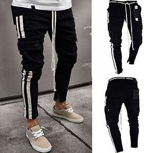 Mens-Skinny-Denim-Slim-Fit-Jeans-Cargo-Pants-Biker-Distressed-Joggers-Trousers