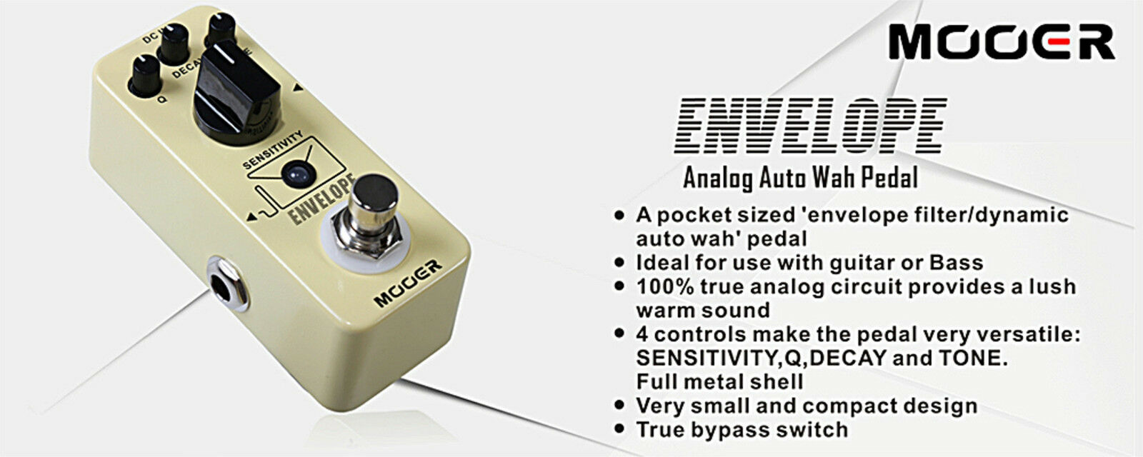 Mooer Audio Micro Envelope Analog Auto Wah Effect Pedal 15040 Circuit