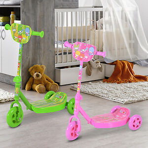 homcom scooter kinder roller tretroller cityroller 3 r der 2 farben ebay. Black Bedroom Furniture Sets. Home Design Ideas