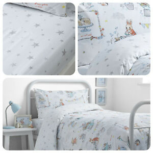 Bedlam-Billy-Bunny-Rabbit-Tea-Party-Kids-Childrens-Duvet-Cover-Ser-Bedding