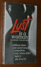 LUST IS A WOMAN Charles Willeford Scarce 1967 sleaze paperback Rare Near Mint