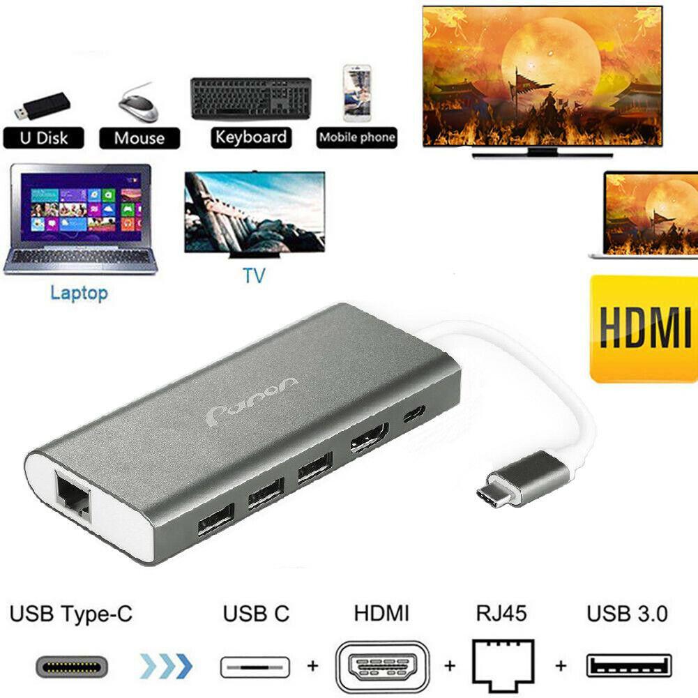 USB 3.0  Docking Station w// Gigabit Ethernet RJ45 HDMI USB Ports SD Card Slot BE
