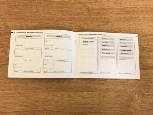 BMW Servizio Libro Di Storia /& Nuovo di zecca originale per tutti i modelli a BENZINA e DIESEL.