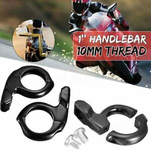 2x 1/'/' Handle Bar Clamp Rear View Mirrors Adapter Mount Motorcycle ATV Scooter