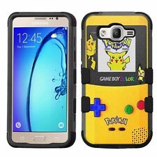 Samsung Galaxy On5 G550 Hard+Rubber Hybrid Impact Case Pokemon Pikachu Game #1JY