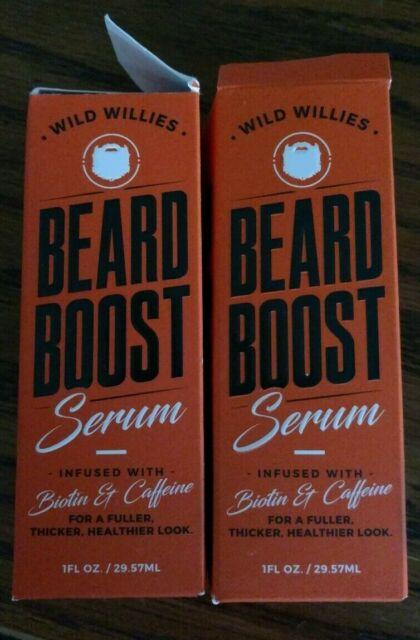 (2) WILD WILLIES BEARD BOOST SERUM 1 oz