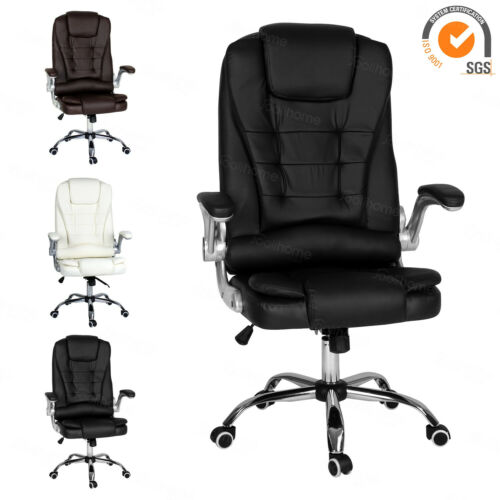 Executive Office Chair Gaming Adjustable Reclining PU Leather Computer Chair