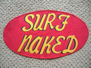 surf naked surfboard surfing vintage jacket patch rare 60s longboard surfer