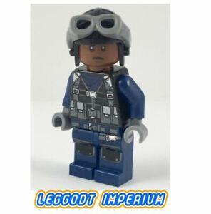 LEGO-Minifigure-Guard-aviator-cap-goggles-Jurassic-World-jw043-FREE-POST