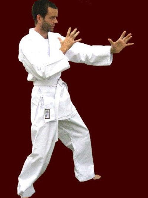 Judo Martial Arts Gi Karate Aikido Jiu-Jistu Middle Weight 100% Cotton White Set