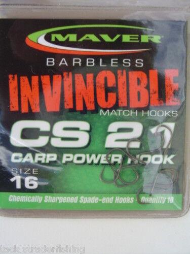 MAVER INVINCIBLE BARBLESS MATCH CS21 CARP POWER HOOK