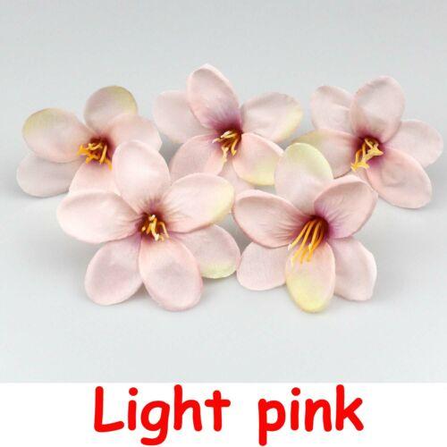 6cm Silk Mini lily Artificial Flowers head DIY Wedding Bouquet Fake Flowers Deco