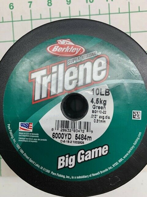 Berkley Trilene XL Big Game 10lb 6000yd Green for sale online