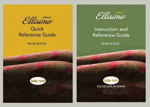 Baby Lock BLSOG Ellisimo Gold Instruction Manual /& Quick Reference Guide on CD