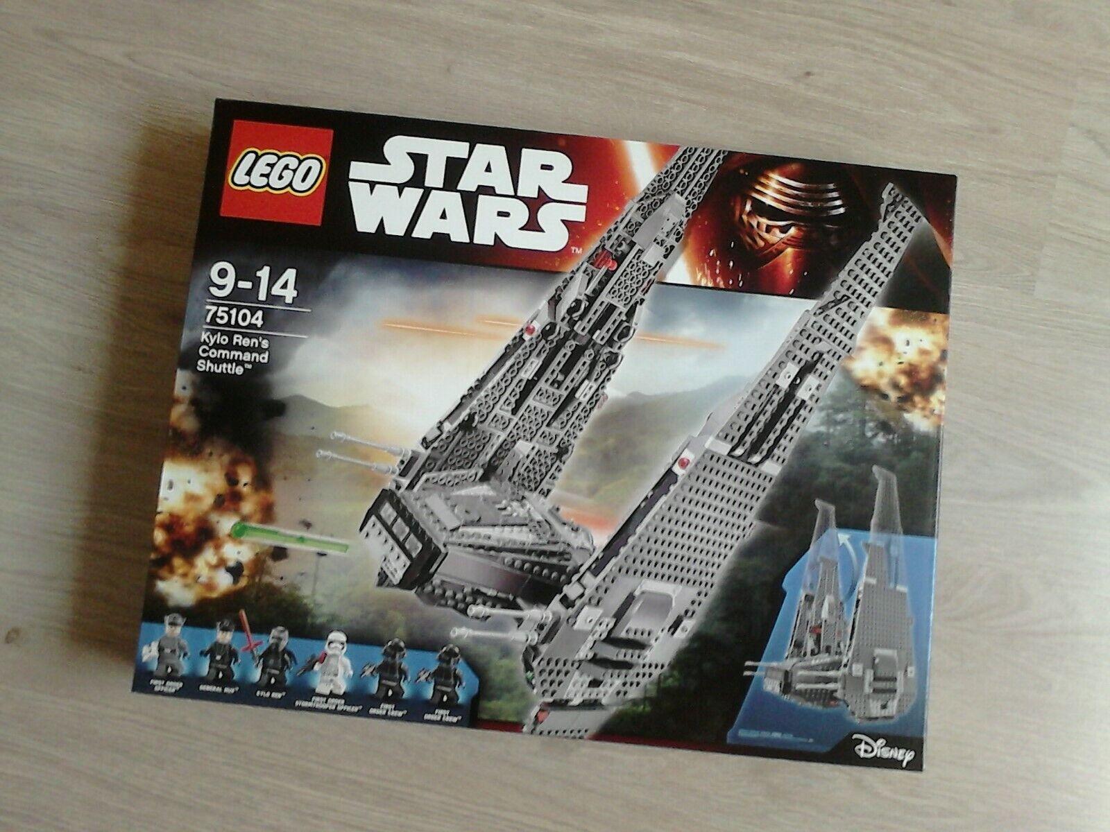 LEGO 75104 KYLO REN'S SHUTTLE COMMAND STAR WARS NEUF NEW