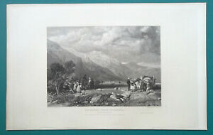 ITALY-La-Magra-near-Sarsana-1833-Antique-Print-Engraving