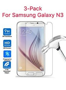 3-PACK-For-Samsung-Galaxy-Note-3-Tempered-Glass-Screen-Protector-Phone-Cover
